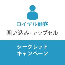 ロイヤル顧客:囲い込み・アップセル シークレットキャンペーン